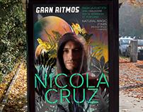 Poster GRAN RITMOS Nicola Cruz