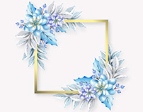 Frames and winter flowers