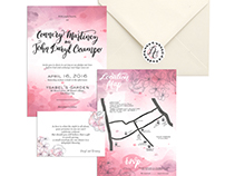 Hand-lettered wedding invitation