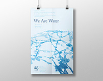 We Are Water exhibition graphics for The Soap Factory