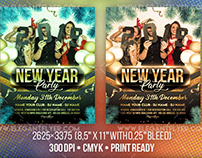 New Year Party – Free Flyer PSD Template