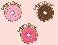 Dripp'n Donut logo design
