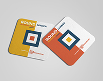 Free Square Round Corner Business Card Mockup 2018