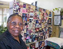 The 89-year-old Lena Bradley, owner of Capitol Coiffure