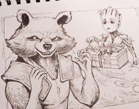 Guardians of the Galaxy drawing