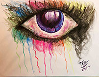 WATER COLOR EYE PAINTING