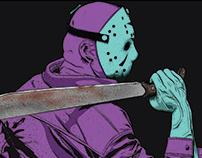NES Friday The 13th Digital Illustration