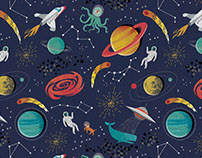 Space Pattern and backpack visual