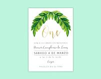 Tarjeta de invitación- Cumpleaños de Lois