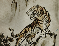 Asian Style Ink Painting
