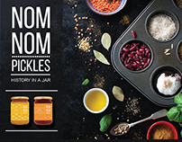 Nom Nom Pickles Branding + Website Design