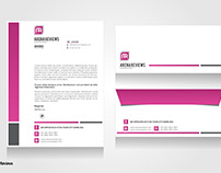 Creative Business Letterhead & Envelope Design Template
