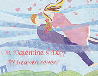 Valentine's illustrated ad
