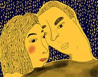 Couple illustraion