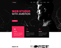 Creative agency or web design agency WordPress theme