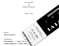 "POSTER & TICKET MUSICAL ""LA LA LAND"""