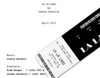 "POSTER & TICKET MUSICAL ""LA LA LAND"""