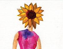 Watercolor Flower Heads