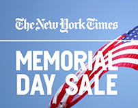NY Times Memorial Day Sale