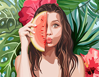 Tropical portrait
