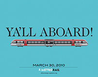 Capital Metro Rail launch poster