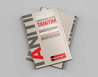 Invitation design with typography