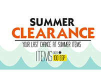 Clearance Campaign | Online ads