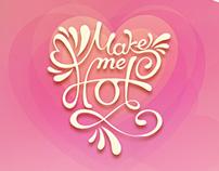 Make Me Hot app and web design