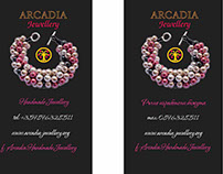 ARCADIA jewellery business cards