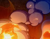 """FIRE,SMOKE,SPARKS'' 2D VFX Animation"