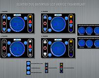 Elektra Duş Bataryası LCD Arayüz Tasarımları