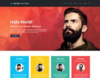 EliteMasters - Barbershop Page Concept