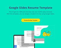 Resume Template Landing Page