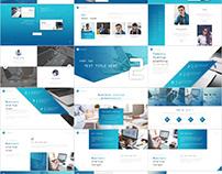34+ Best Company Blue Design business PowerPoint templ