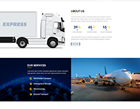 Free - EXPRESS - Logistic PSD Template