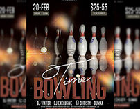 Bowling Time Flyer - Sport A5 Template