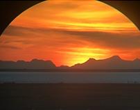 Sunset in a telescope