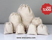 Toptan Bez Kese Torba - Lavanta Kesesi - Cotton Pouches