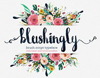 Blushingly Typeface - Wedding script font with swashes