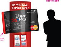 Lobby Display-Union Plus Credit Card program