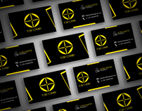 Business Card Black and Gold concept