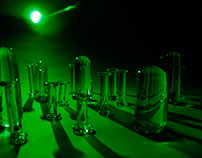 Laser Refraction Through Glass Forms: A Study of Light