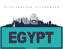 Egypt city skyline silhouette