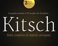 Kitsch Contemporary Gothic Typeface with 2 Free Fonts