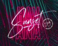 Havana Sunset Font Duo