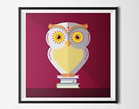 Owl | Illustration for INEGI