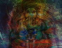 Abstract Ganesh Art