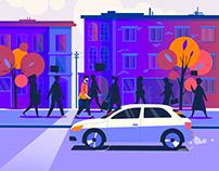 Street / Morning / Novmber