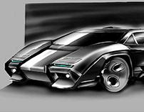 Lamborghini countach 2018 concept sketch