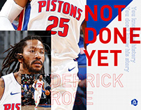 DERRICK ROSE | NOT DONE YET - Fan Made Poster